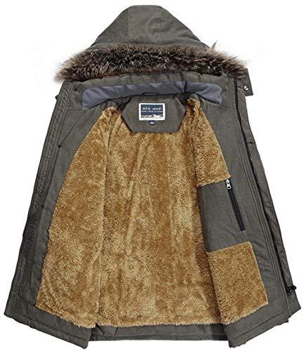 Capuche D'alpaga Décontractée Moderne À Haïdienne Manteau D'hiver Veste Épaisse Avec Kaki Parka wfCOqBxT