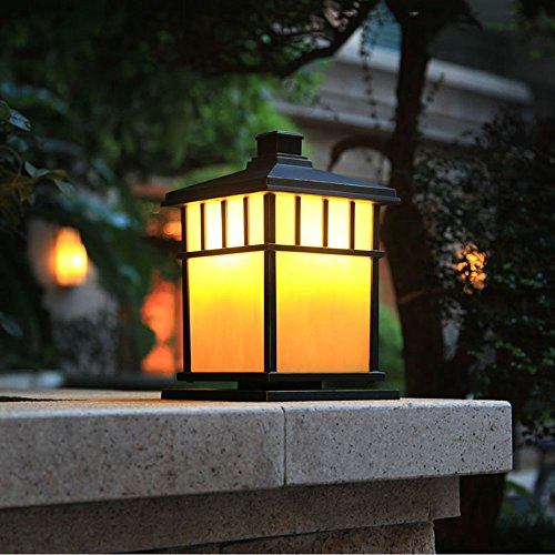 Kmyx Garden Fence Post Lights Pillar Lights Lamp