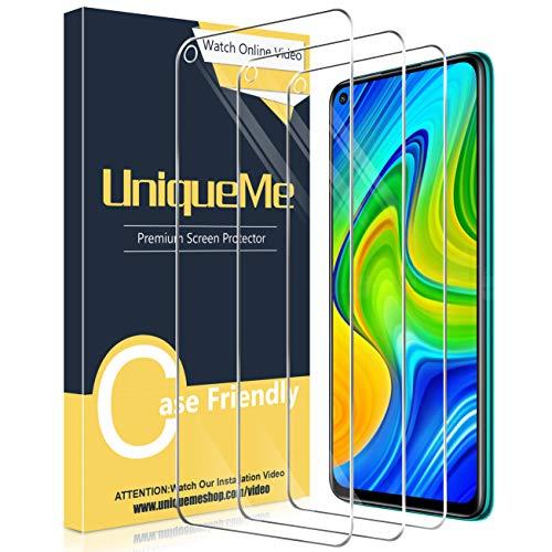 🥇 UniqueMe [3 Pack] Protector de Pantalla para Xiaomi Redmi Note 9