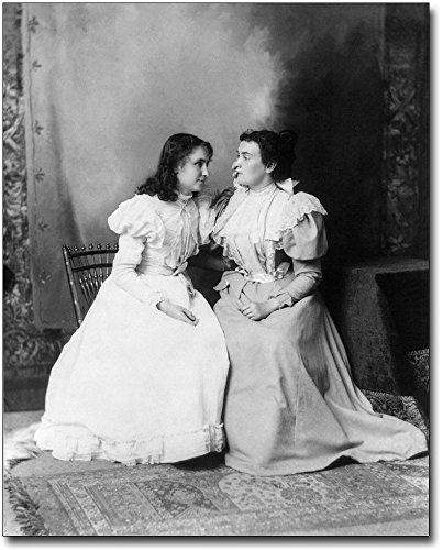 Helen Keller & Anne Sullivan Portrait 1897 8x10 Silver Halide Photo Print (Images Of Helen Keller And Anne Sullivan)