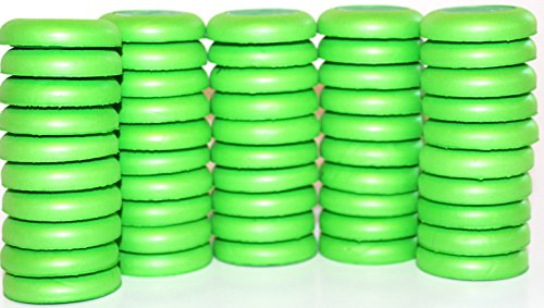 Blaydessales Green Disc Refill Set of 50 for Nerf Vortex, Zombi, Ripshot, Ricochet and Fusefire Blasters , 50 Blaydessales Disc. 50 Soft Foam Disc for Disc Shooting Guns. Nerf War Party Supplies by BlaydesSales
