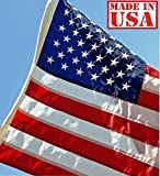 US Flag Factory 3'x5′ US AMERICAN Flag (Embroidered Stars, Sewn Stripes) Outdoor SolarMax Nylon – Made in America – Premium Quality Review