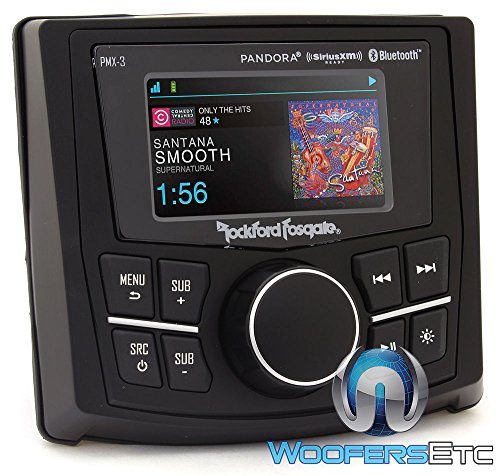 Rockford PMX-3 Punch Marine/Motorsport Compact Digital Media Receiver w/ 2.7'' Display by Rockford Fosgate