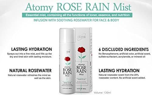 Atomy Rose Rain Mist-All-In-One Effect Of Toner+Essence+Nutrition In One Essential Mist- Korean Original (130ml)
