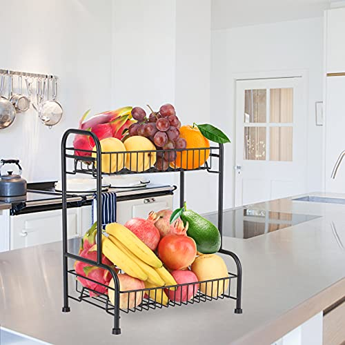 bedee Organizador Cocina, Especieros para Cocina Verdulero Cocina Estante Cocina Estante de Frutas de 2 Pisos Estante de Verduras Almacenaje Cocina Organizador Escritorio Almacenaje Estantes