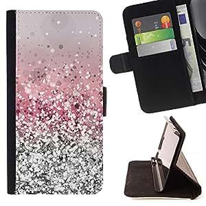 For Sony Xperia Style T3 Case , Glitter Plata Rosa Brillante Nieve brillante diamante- la tarjeta de Crédito Slots PU Funda de cuero Monedero caso cubierta de piel