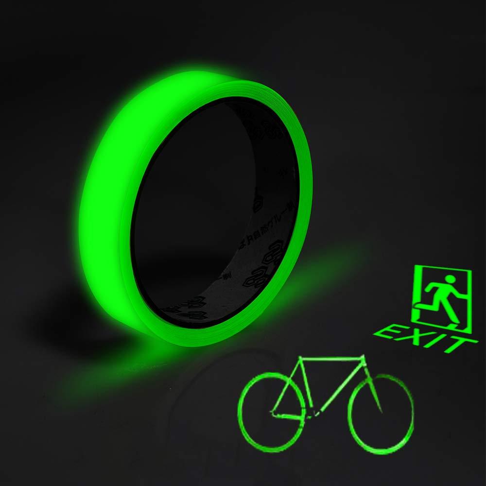 HOMCA 5m× 20mm Leuchtendes Klebeband luminous tape glow in the dark Selbstklebend, Anti-Rutsch, Abnehmbar, Wasserdicht