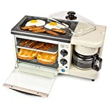 Nostalgia Bset100Bc 3-in-1 Toaster Ovens, 2 Slice, Bisque