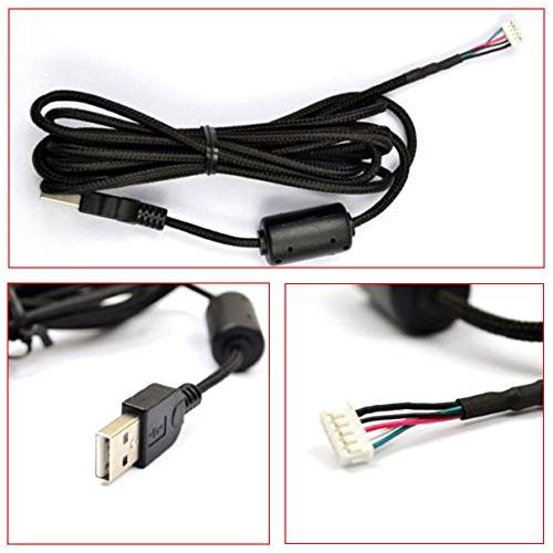 Par Line - NEW mouse cable For Logitech G5 G500 Mice USB Nylon braided line US-Generic Aftermarket Par
