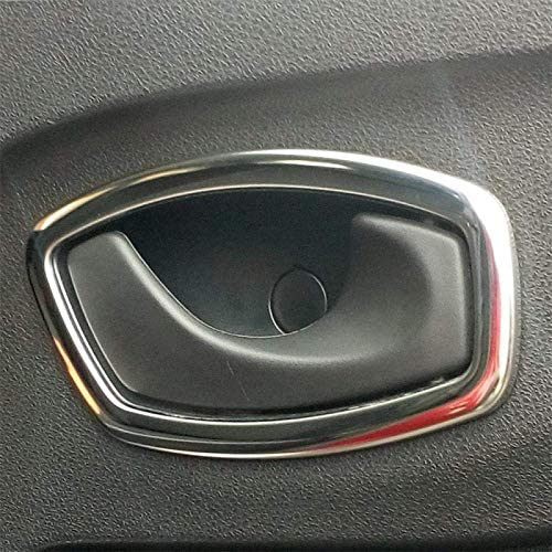 Domilay for Clio IV 2013-2018 ABS Chrome Car Inner Door Bowl Protector Frame Cover Trim Car Accessories 4Pcs