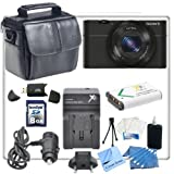 Sony Cyber-shot DSC-RX100 Digital Camera with CS Starters Kit. Includes Spare Battery, Rapid Travel Charger, 8gb High Speed Memory Card, Card Reader, Soft Carrying Case, Cleaning Kit, LCD Screen Protectors, Mini Tripod & CS Microfiber Cleaning Cloth