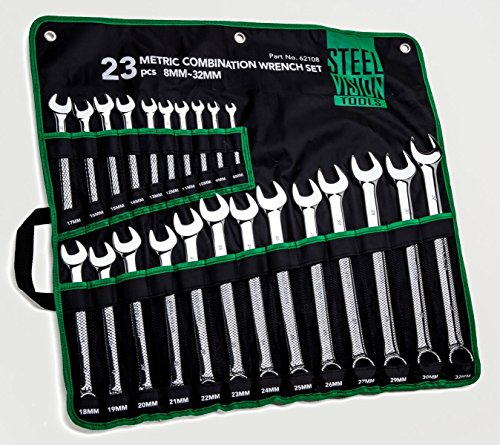 Steel Vision 23pc 12-Point Metric Combination Wrench Set 8–32 mm 22mm 12 Point Combination Wrench
