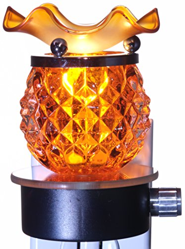 TVaromatics Orange Pineapple Glass Plug-in Aroma Lamp with Halogen Bulb and Dimmer - ()