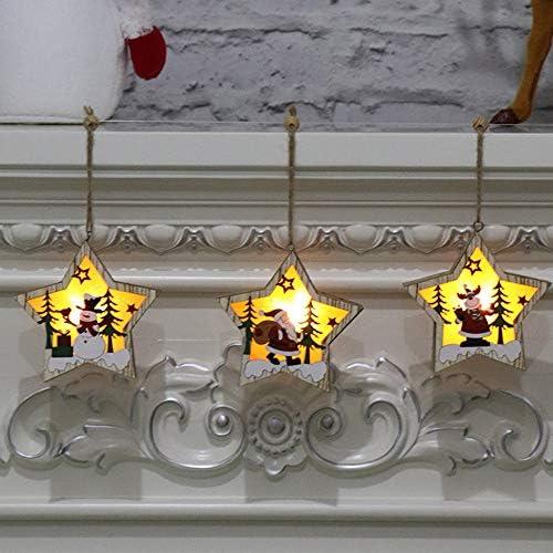 ZXXFR Ciondoli E Pendenti Natalizi,Felice Anno Nuovo 2020 Natale in Legno Porta Ad Albero per Il Montaggio A Parete della Placca Pendente Segno Decorazione Ornamento