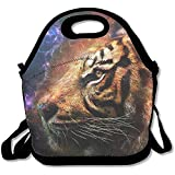 Best ICOLOR Kid Lunches - Lunch Tote - Tiger Wallpaper Waterproof Reusable Lunch Review