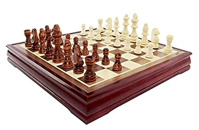 We pay your sales tax 3 lb Wooden Chess Set - Board Game with Flip Storage (Square) ~ By