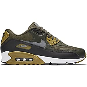 Nike Men's Air Max 90 Essential Running Shoe, Cargo Khaki/Cool Grey-Black-Sequoia 12