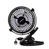 Keynice USB Clip Desk Personal Fan, Table Fans,Clip on Fan,2 in 1 Applications