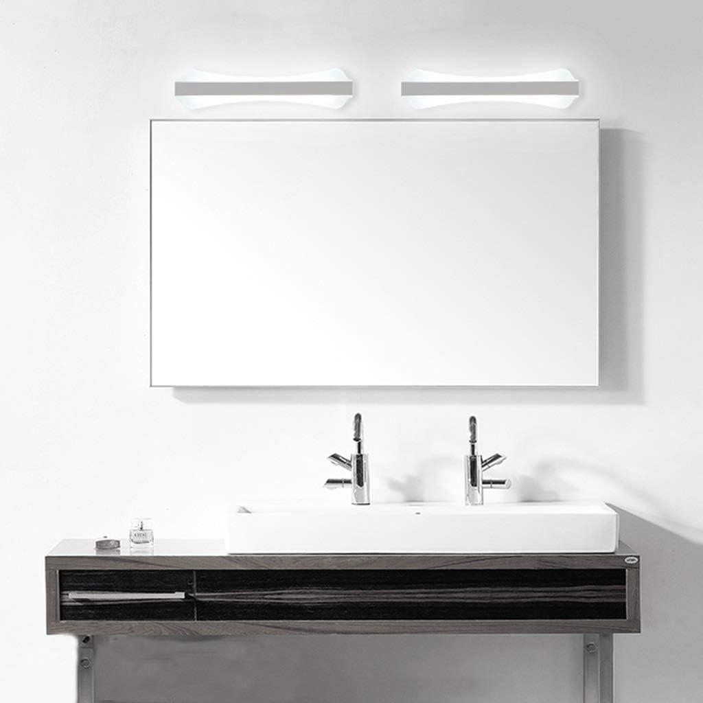 & Spiegellampen LED Spiegelleuchte Badezimmer Wasserdichte Schminktisch Spiegel Kabinett Licht Acryl Wandleuchte [Energieklasse A ++] (Color : White light-80cm) White Light-80cm