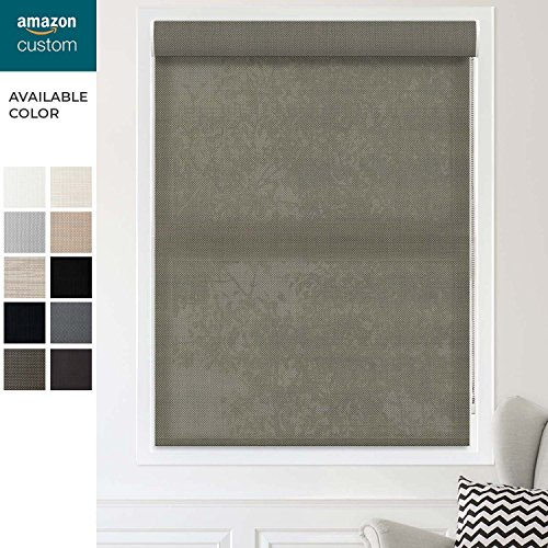 CHICOLOGY Custom Made Corded Roller Shades, Valance, Gaza Bistro-Solar. W: 16-24-in, H: 60-72-in by CHICOLOGY