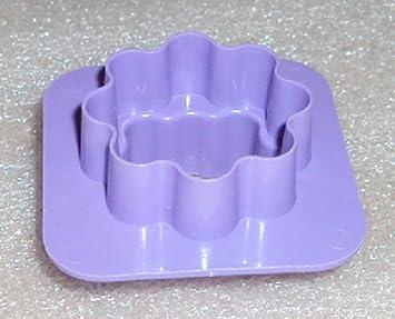 Tupperware Mini molde para galletas canapés masa queso cortador de Gadget de lavanda morado: Amazon.es: Hogar