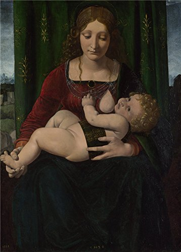 Oil Painting 'Giovanni Antonio Boltraffio The Virgin And Child' 16 x 22 inch / 41 x 57 cm , on High Definition HD canvas prints is for Gifts And Bed - Einstein Lcd