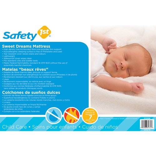 Amazon.com : Safety 1st - Sweet Dreams Crib and Toddler Mattre : Baby Toys : Baby