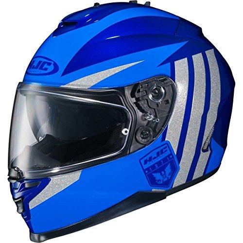 Mc2 Blue Motorcycle Helmet (HJC Grapple Adult IS-17 Sports Bike Motorcycle Helmet - MC-2 / Large)