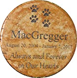"Personalized Pet Memorial Step Stone 11″Diameter"" 'Always and Forever in Our Hearts"
