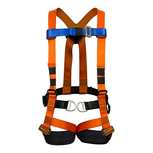 Fusion Climb Cosmo Full Body Adjustable Zipline Harness 23kN M-L Orange by Fusion Climb