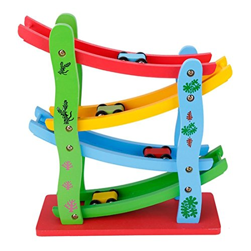 Best Lewo Wooden Ramp Racer Toddler Toys Race Track Car Games For 1 Year Old Boy