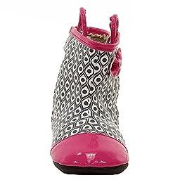 Robeez Happy Hopper Rainboot Hard Sole Mini Shoe (Infant), Hot Pink, 6-9 Months M US