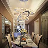 Dixun LED Chandeliers Modern Crystal 3 Rings