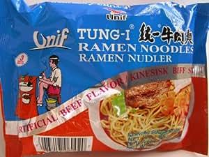 Amazon.com : Tung-I Ramen Noodles, Artificial Beef, 3 oz