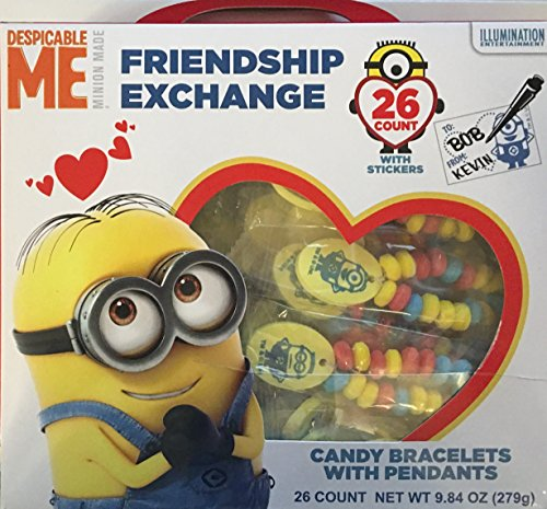 Despicable Me Minion Friendship Valentine Exchange Candy Bracelets
