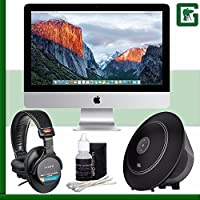 Apple 21.5 iMac (Late 2015) + Sony MDR-7506 Headphone + JBL Voyager Portable Wireless Bluetooth Speaker (Black) Greens Camera Bundle 30