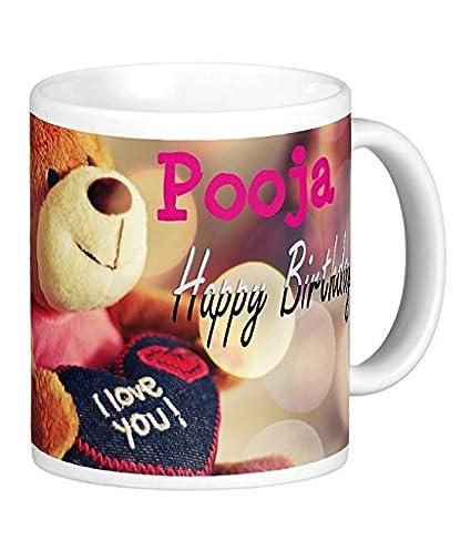 Buy Exocticaa Happy Birthday Pooja Printed Mug Online At Low Prices