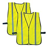 Ergodyne GloWear 8020HL Reflective High Visibility Vest, One Size, Lime, 2 Pack