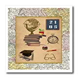 Beverly Turner Graduation Design - Vintage Graduation, Globe, Chalkboard, 2015, Clock, Cap, Diploma - 6x6 Iron on Heat Transfer for White Material (ht_203354_2)