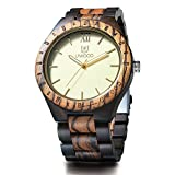 Uwood Eco Friendly Sandal Wood Japan Quartz Movement Waterproof Wooden Watch for Men Fashion Gift
