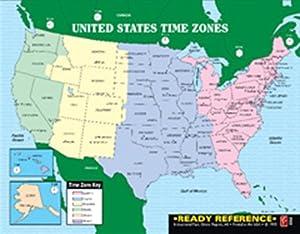 Amazoncom Us World Maps Learning Card X Laminated - 8 1 2 x 11 us map