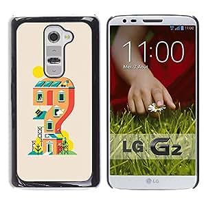 LECELL--Funda protectora / Cubierta / Piel For LG G2 -- Casa de juegos --