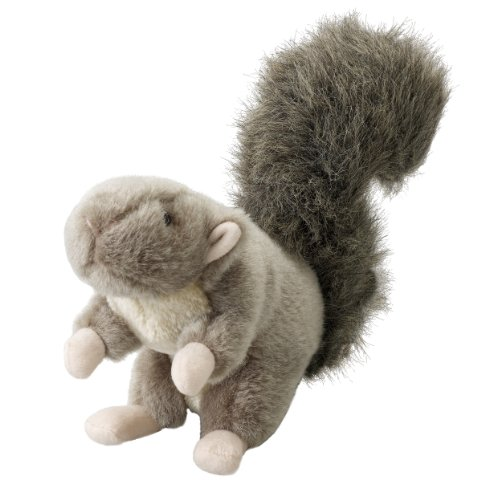Ethical Pet Woodland Series 9.5-Inch Squirrel Plush Dog Toy, Large (Black Plush Dog Toy)