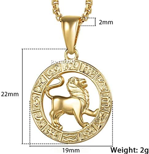 0 925 Ladies Necklace Jewelry,Men and Women 12 Zodiac Signs Zodiac Gold Pendant Necklace Aries Leo 12 Constellation Jewelry,s925 Sterling Silver Necklace