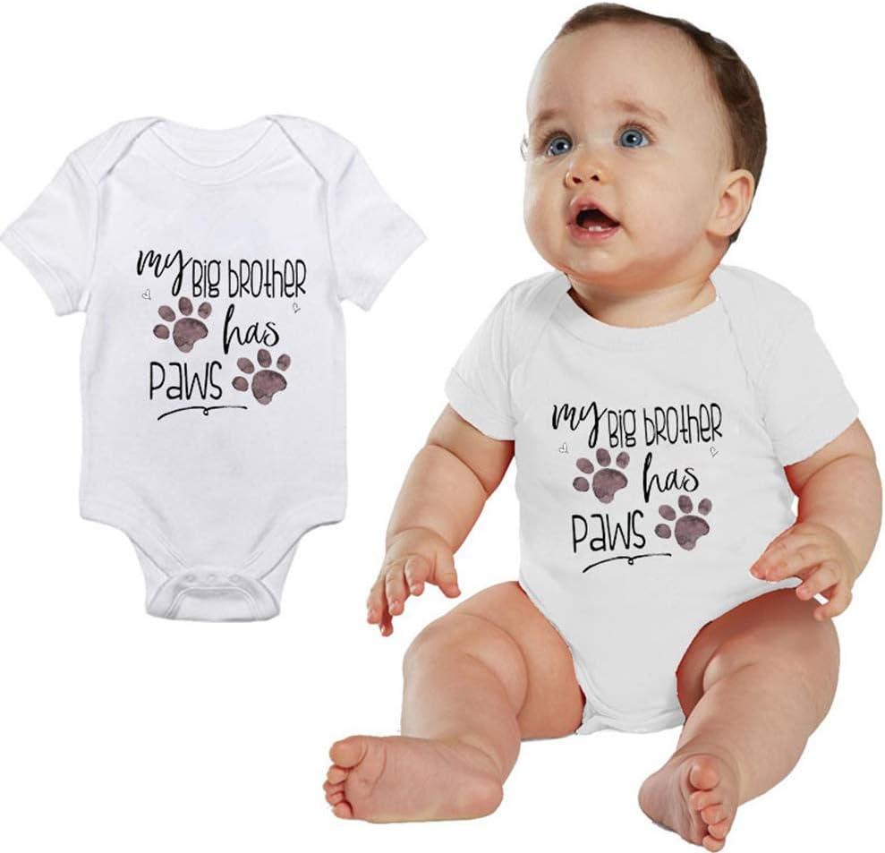 Little Brother Vest Newborn Baby Girl Boy Clothes Bodysuit Gift Playsuit Novelty