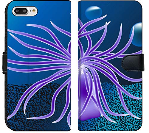 Anemone Bubble - Apple iPhone 8 Plus Flip Fabric Wallet Case Image ID 27254982 sea Anemone with Bubbles Underwater