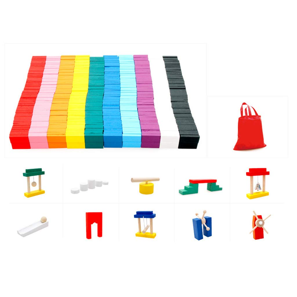 LIUFS-TOY Children's Solid Wood Standard Institution Adult Competition Domino Toy 3-6 Years Old (Size : S) by LIUFS-TOY (Image #7)