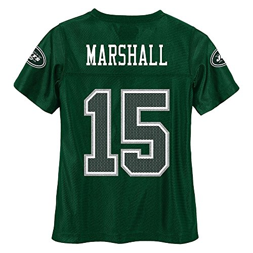 Brandon Marshall Youth Jersey - Outerstuff Brandon Marshall NFL New York Jets Mid Tier Fashion Jersey Girls Youth (7-16)
