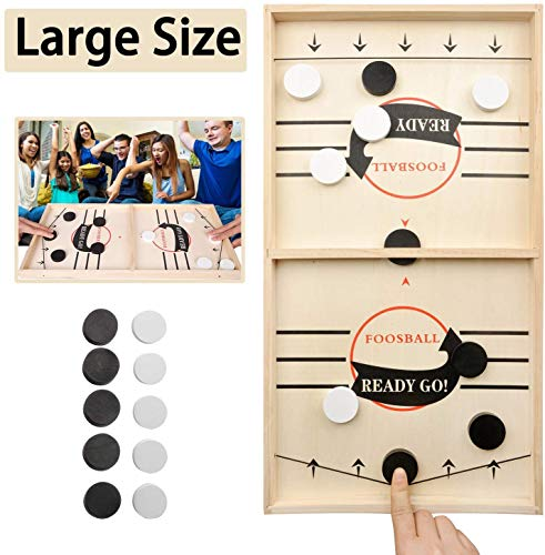 JANDANT Large Size Fast Sling Puck Game Slingshot Board Games for Adult and Kids Foosball Board Game Slingshot Table Hockey Party Game Bouncing Chess Hockey Game Table Desktop Battle Hockey Game
