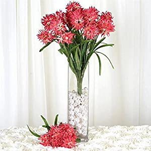 BalsaCircle 36 Silk Agapanthus - 4 Bushes - Artificial Flowers Wedding Party Centerpieces Arrangements Bouquets Supplies 11